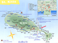 St Kitts, West Indies, Vacation Rental Property, Map