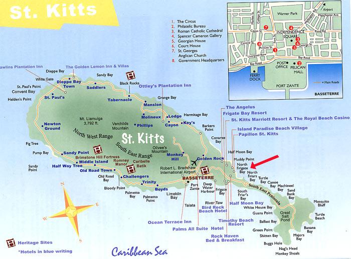 Map_Leeward Cove_Frigate Bay_St_Kitts_West_Indies